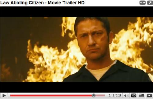 Law Abiding Citizen trailer on YouTube. Read up on it through these fangirl
