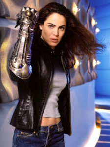 Yancy Butler wearing the Witchblade