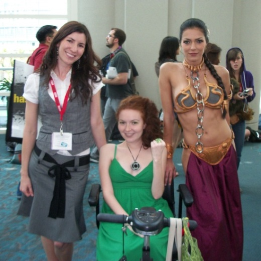 Left to right: Action Flick Chick Katrina Hill, Nerdy Bird Jill Pantozzi, reality TV star Adrianne Curry.
