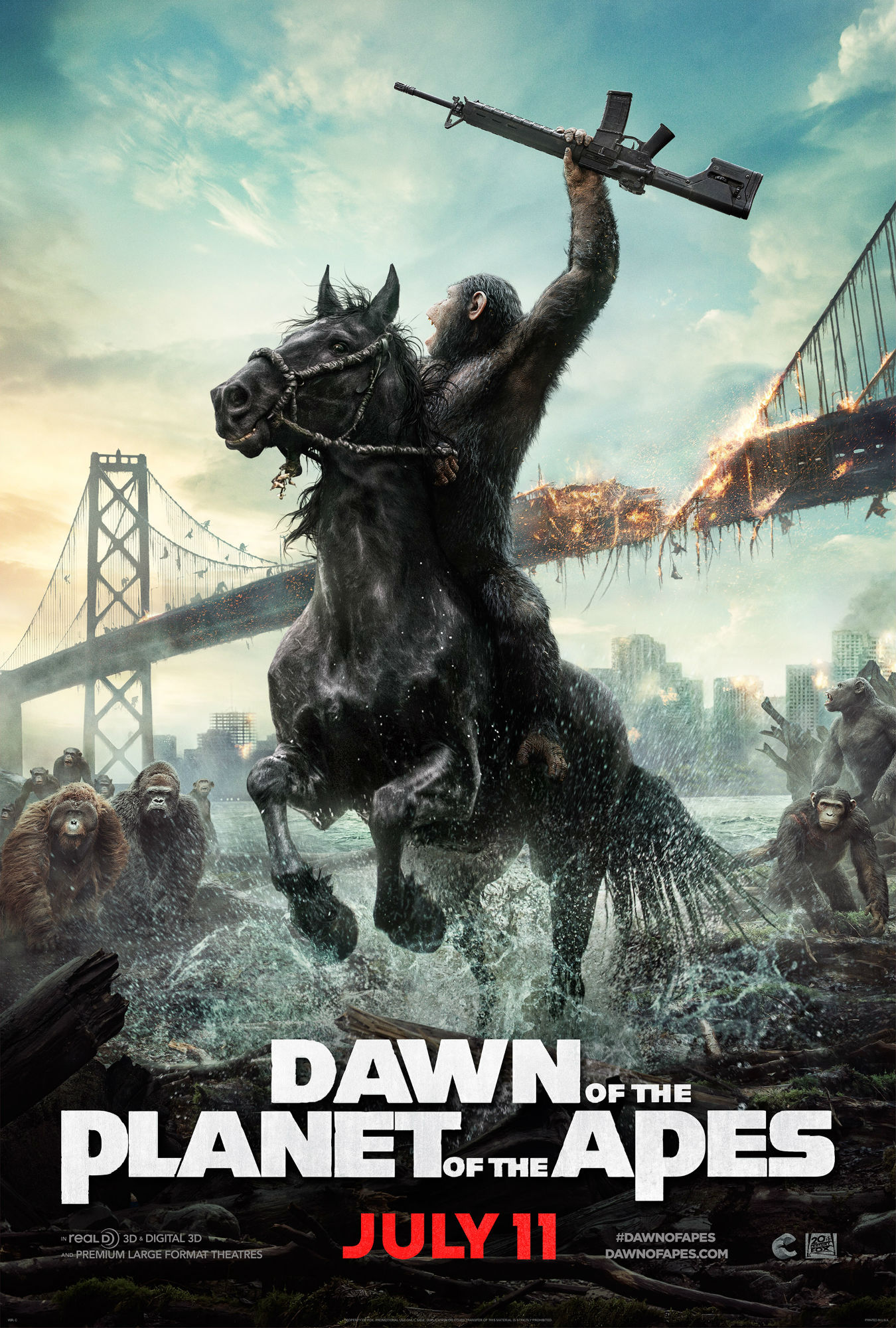 Dawn of the Planet of the Apes' New Poster Is Awesome